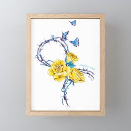 Ribbon | Endometriosis awareness Framed Mini Art Print