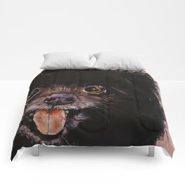 Black Pomeranian Comforters