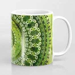 Vintage Lime Mandala Coffee Mug