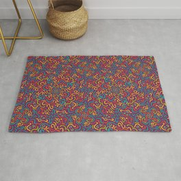 Happy Colourfulful Curles Rug