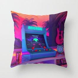 Arcade Dreams Throw Pillow