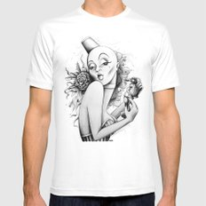 Burlesque Mens Fitted Tee MEDIUM White
