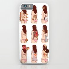 Girl & Pizza iPhone 6 Slim Case