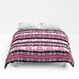 Black and pink striped pattern . Comforters