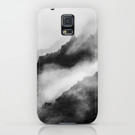 Foggy Mountains Black and White iPhone Case