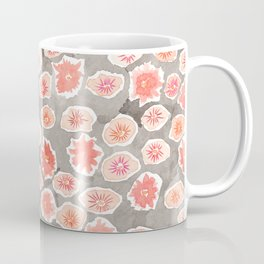 Watercolor flowers pink and gray by robayre Coffee Mug