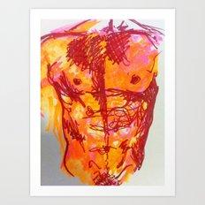 male torso summer Art Print