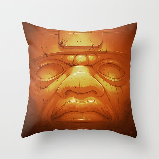 Olmeca II. (Gold) Throw Pillow