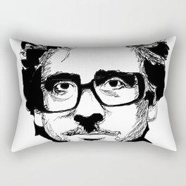 Tim Burton in colors by burro Rectangular Pillow