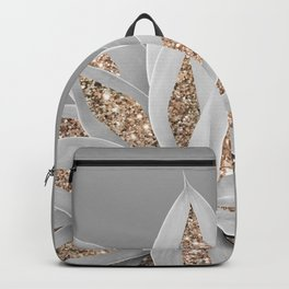 Gray Agave with Gold Glitter #1 #shiny #tropical #decor #art #society6 Backpack
