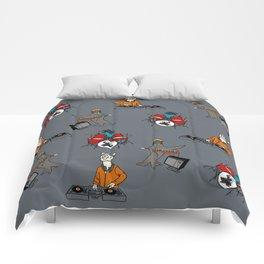 Flock of Gerrys Band Print Comforters