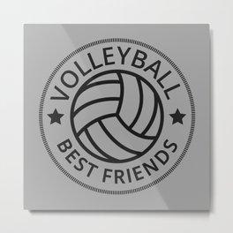 Volleyball Best Friends I Metal Print