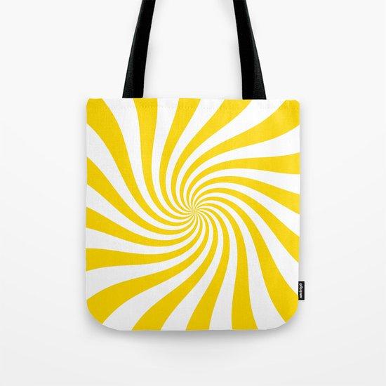 Swirl (Gold/White) Tote Bag