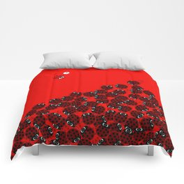 La coccinelle a crowded place Comforters