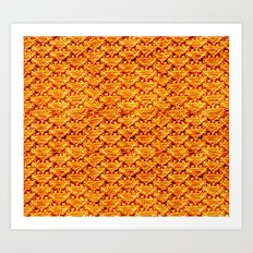 Digital knitting pattern Art Print