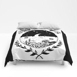 Moon River Marsh Illustration Comforters