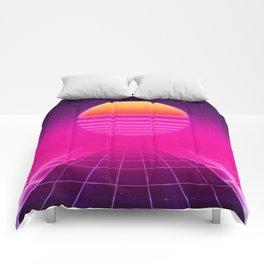 Futuristic space background Comforters