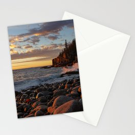 Sunrise at Otter Cliff III Stationery Cards