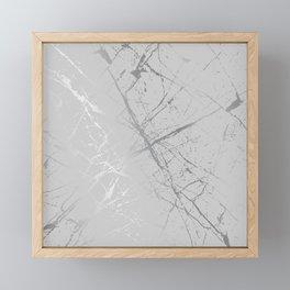 Silver Splatter 089 Framed Mini Art Print