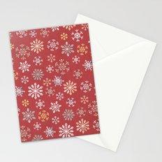 christmas snow Stationery Cards