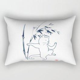 Tai Chi Cat 03 Rectangular Pillow