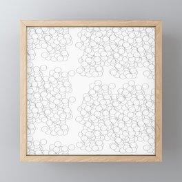 Circles | White Minimalist Framed Mini Art Print