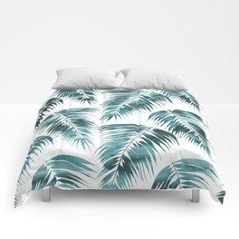 Maui Palm Leaf 2 green Comforters
