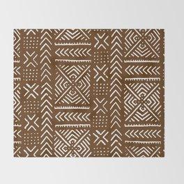 Line Mud Cloth // Brown Throw Blanket
