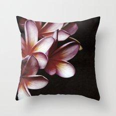 Pink Frangipani Throw Pillow