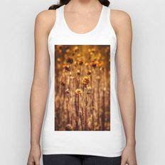 Sunflower Heads in the Winter Sun Unisex Tank Top