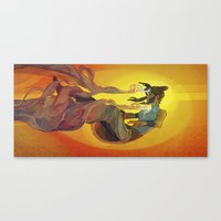 legend of korra Canvas Prints featuring Korra by Vivian Ng
