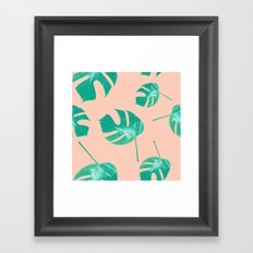 Pink Split Leaf Framed Art Print