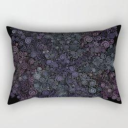 3D Psychedelic Powder Pastel NeuRose Rectangular Pillow