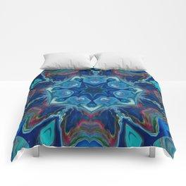 Topaz Soul Mandala Style Design - Fluid Nature Comforters