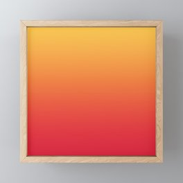 Summer Pattern Ombre Yellow Orange Red Gradient Texture Framed Mini Art Print