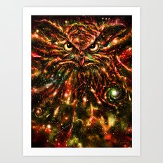 Space Owl Art Print
