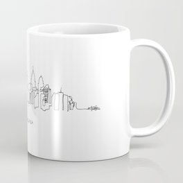 Philadelphia Skyline Drawing Coffee Mug