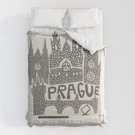 Prague Cityscape Comforters