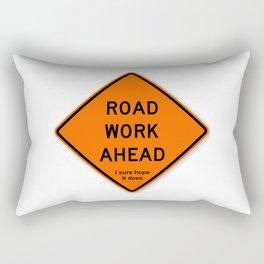 Road Work Ahead Meme Rectangular Pillow