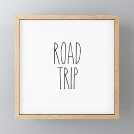 Road Trip text Framed Mini Art Print