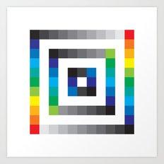 Colorful sqaures pattern Art Print