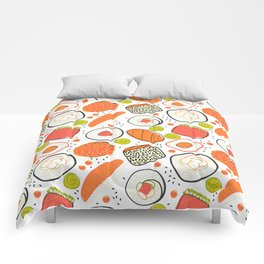 Japanese sushi lovely pattern Comforters