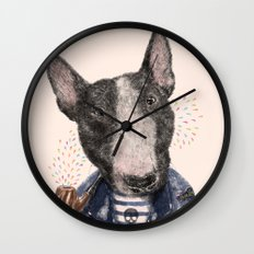 Mr.Bullblack Wall Clock