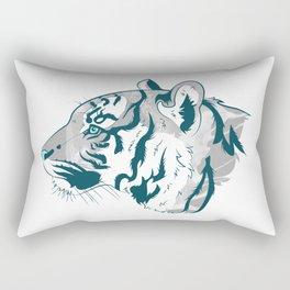 Grayscale Tiger Rectangular Pillow