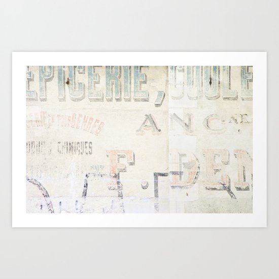 the writing on the wall ...  Art Print