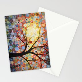 Abstract Art Landscape Original Painting ... Celestial Sunset Stationery Cards