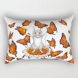 Mouse Butterflies Rectangular Pillow