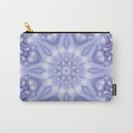 Light Blue, Lavender & White Floral Mandala Carry-All Pouch