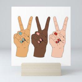 Peace Hands 3 Mini Art Print