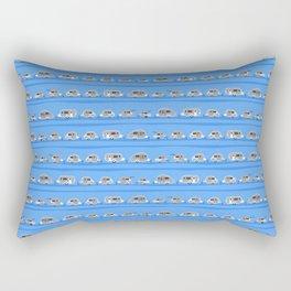 Tiny Trailer Rows in Blue Rectangular Pillow